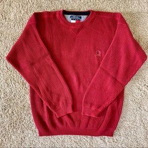 Tommy Hilfiger red crewneck crest sweater